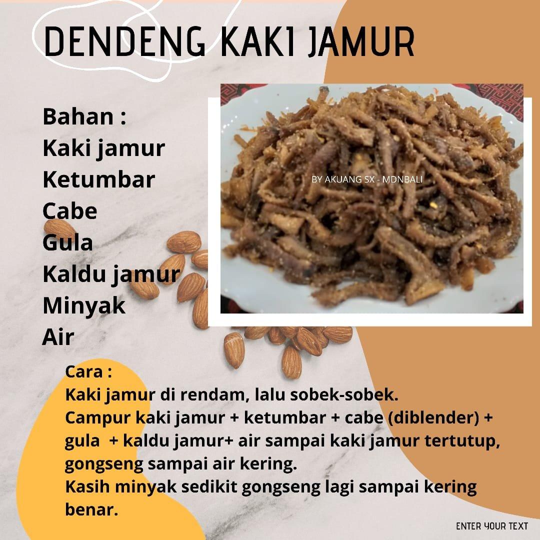 Dendeng Kaki Jamur Resep Vegetarian Love Peace Veggie