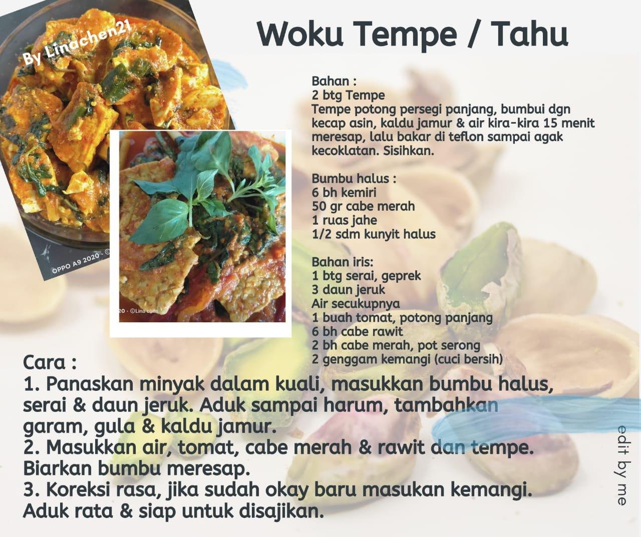 Woku Tempe Tahu Resep Vegetarian Love Peace Veggie
